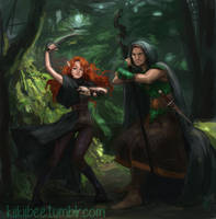 commission. Tally and Koru by kiikii-sempai