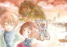Autumn Walk with Remo e Keiko by Ernestgirl