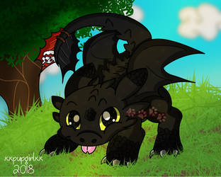 How to Train Your Dragon - Toothless Fan Art! by KawaiiPaws24