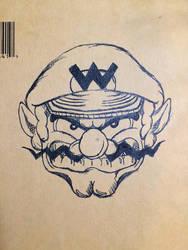Wario Time (Pen Sketch) by Miiversian