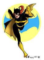 Adam Hughes Batgirl by industrialstudios
