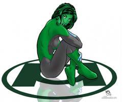 Jade as Green Lantern by industrialstudios