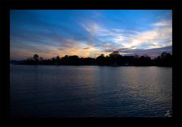 Sunset on the Bay by JeremyIBBC