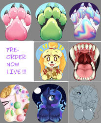 New 3D mousepads up for pre-order!! by InkyNotebook