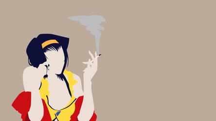 Cowboy Bebop - Faye minimalist by NanashisWorks