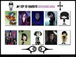 My Top 10 Favorite Goth/Emo Girls by RazorRex