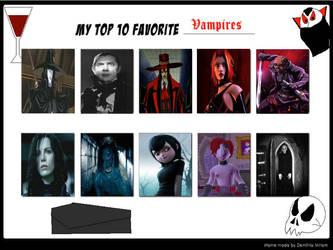 My Top 10 Favorite Vampires by RazorRex