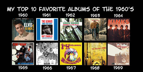 My Favorite Albums of the 1960s by RazorRex