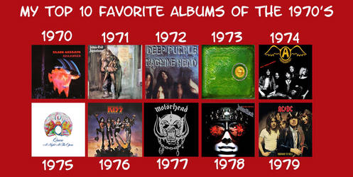 My Favorite Albums of the 1970s by RazorRex