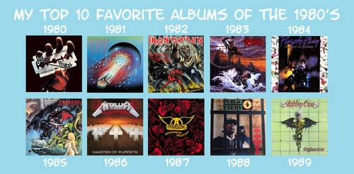 My Favorite Albums of the 1980s by RazorRex