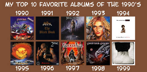My Favorite Albums of the 1990s by RazorRex