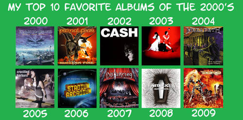 My Favorite Albums of the 2000s by RazorRex