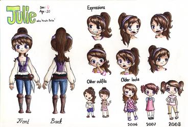 Julie character sheet by noodi10