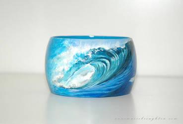 Other side of Ocean Dreams Mermaid Bracelet by Mocten