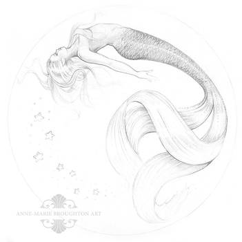 Serenity Mermaid Jewelry Box Sketch Design by Mocten