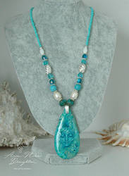 Mermaid Spirit Necklace Full View by Mocten