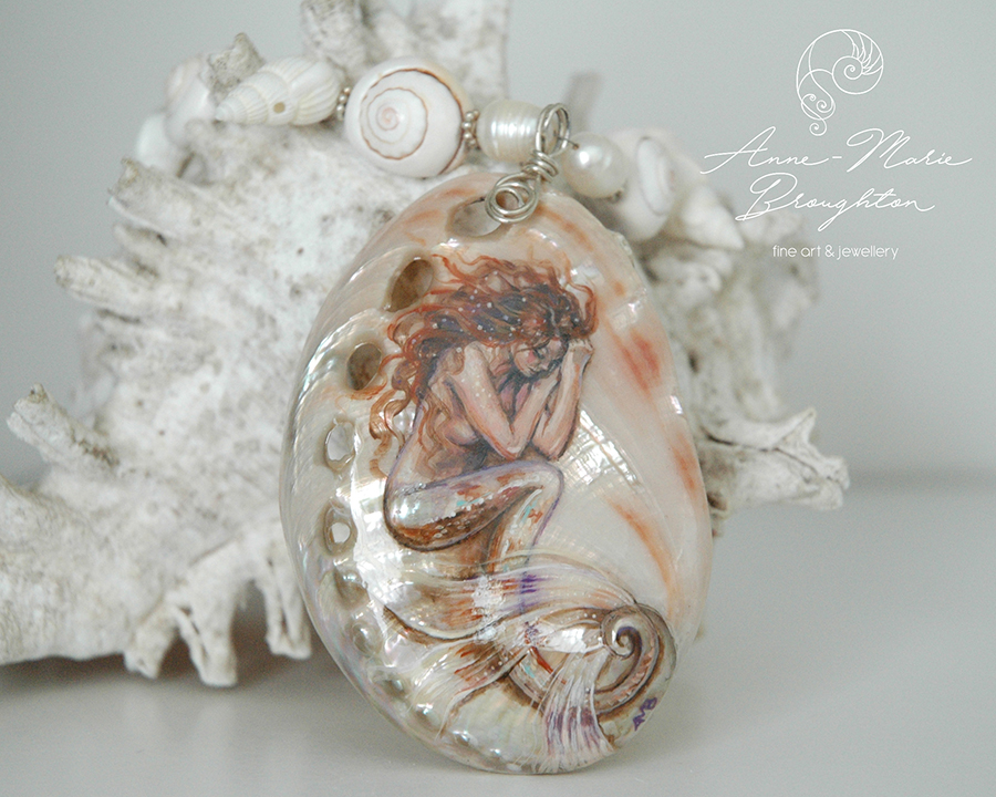 Sienna Abalone Shell Mermaid Necklace by Mocten