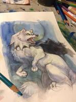 WIP: Winter Wolf by skulldog