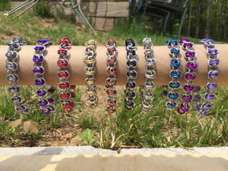 Barrel-Maille Bracelets by JonnyBBreaks