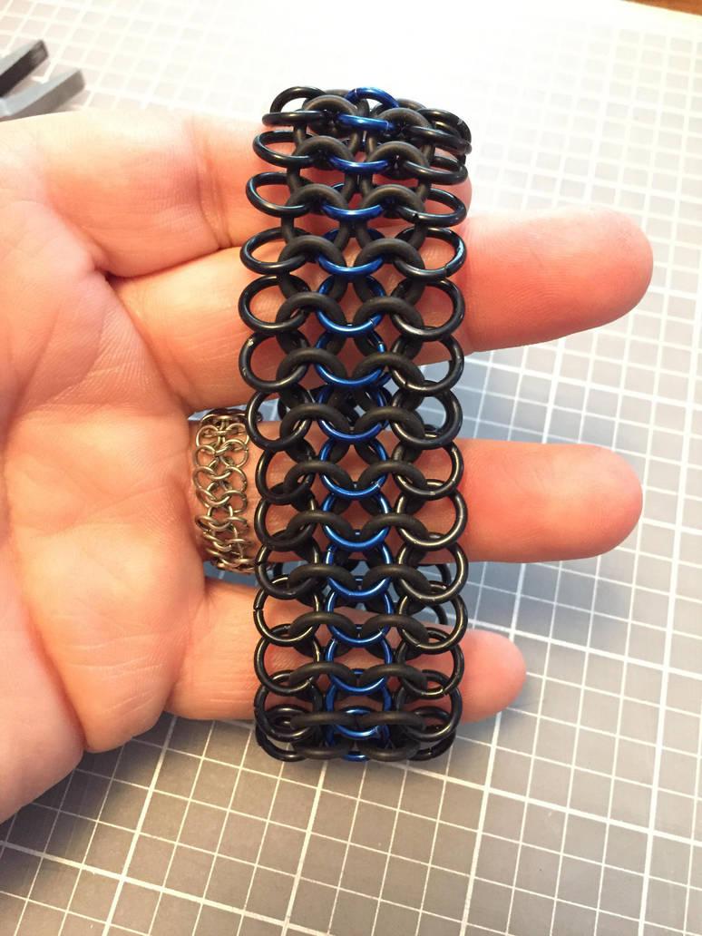5 Row European 4-In-1 Thin Blue Line Bracelet by JonnyBBreaks