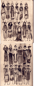 20-s fashion Moleskine doodles by Phobs0