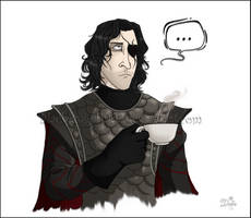 Knave of Heart taking tea by black-angel1992