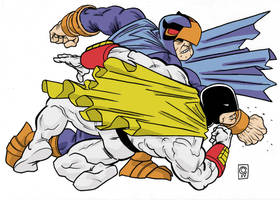 Space Ghost vs Blue Falcon by caiooliveira