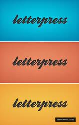 Letterpress P'Shop Layer Style by ormanclark