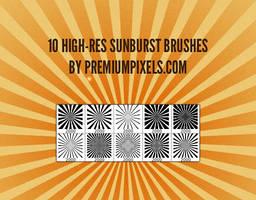 10 High Res Sunburst Brushes by ormanclark