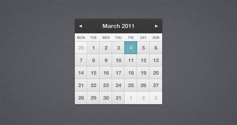 Pretty Little Calendar PSD by ormanclark