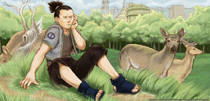 Shikamaru among deer by canalicula