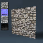 Old stone wall by DeepBlueDesign