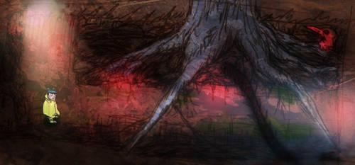 Strange Woods underground level mock up by StaxMaye