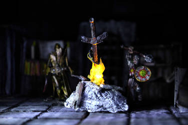 Dark Souls Dungeons and Dragons Bonfire by StaxMaye