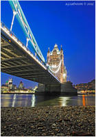 Tower Bridge At Low Tide. by andy-j-s