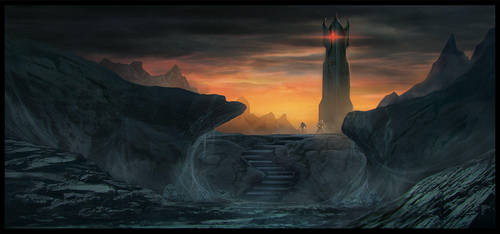 The Tower of Cirith Ungol by Enthing
