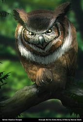 Down River: The sinister Owl, Mosi by Enthing