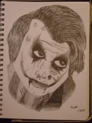 Heath Ledger as 'The Joker'. by xostarlesseyes