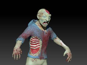 Zombie Dude work in progress by MichaelDickey