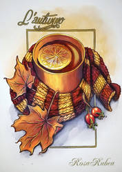Autumn Tea by RosaRubea