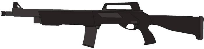 Derya Anakon Semi Automatic Shotgun by Wxodus