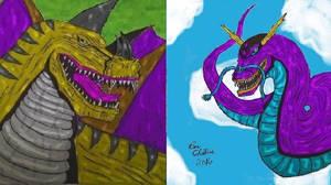 Shin-Ben Kaigora vs Rex by Cupercrusader