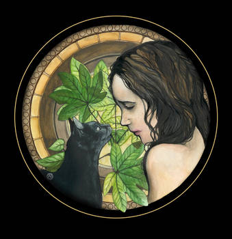 She and Her Cat by Ethlinn