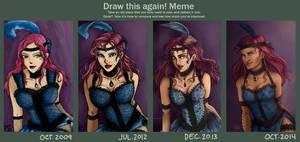 Draw It Again Meme 3 take 3 - Saloon Girl by kamidoodles