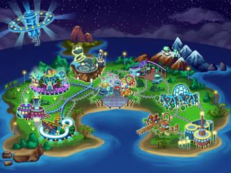 Island Map by LightBlackStudios