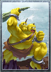 Card design - Ogre by LightBlackStudios