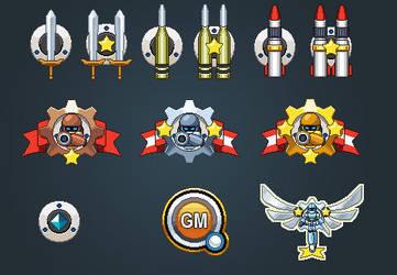 Rank badges in Bangu Bang Mania's ID screen by LightBlackStudios