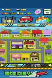 Mockup screenshot - dodging racer - stage select by LightBlackStudios