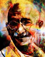 Gandhi by DivvuartRome
