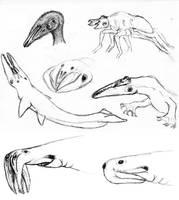 alien sketch dump by PeteriDish